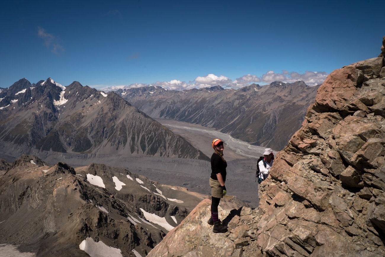 Climbing Kaitiaki Peak in Mount Cook, New Zealand