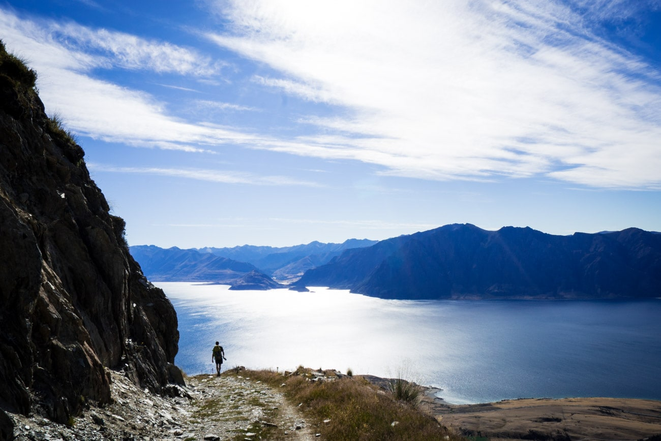 Hiking to Isthmus Peak in Wanaka, New Zealand