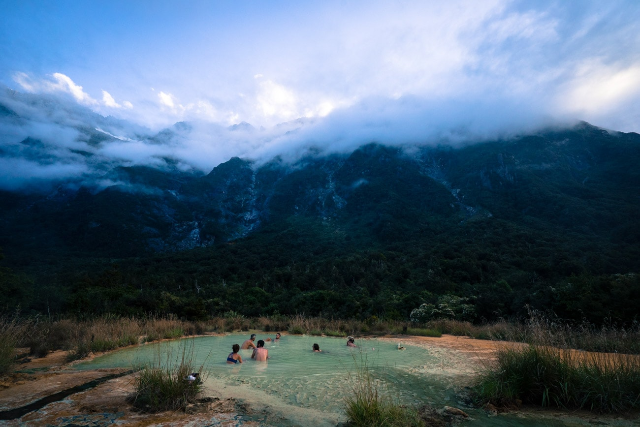 Welcome Flat Hot Springs on the Copeland Track on New Zealand's West Coast
