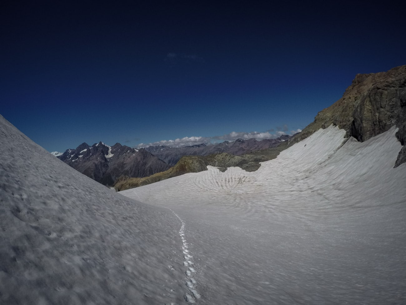 The Ball Glacier in Mount Cook