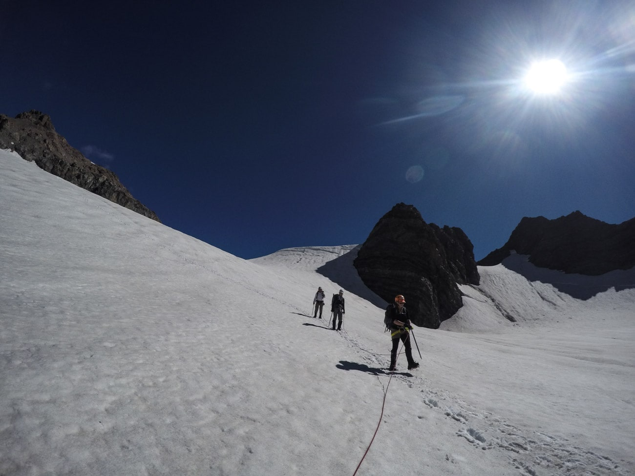 Crossing the Ball Glacier in Mount Cook with Alpine Recreation