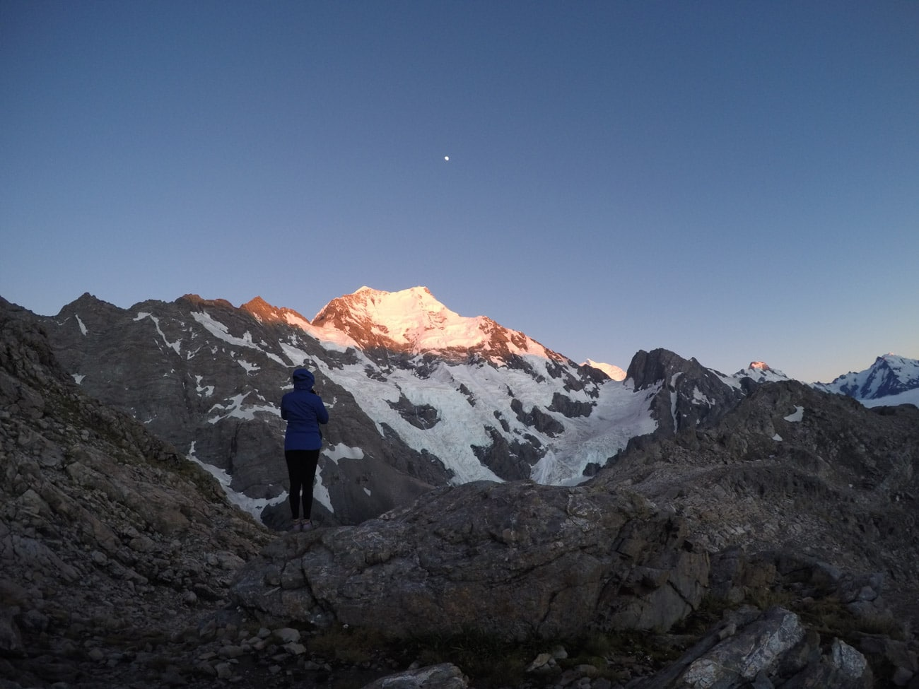 The Caroline Face of Mount Cook in New Zealand