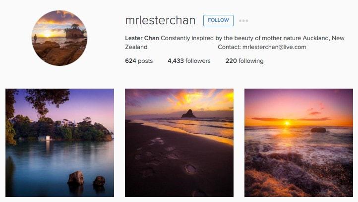 Top New Zealand Instagrammers: MrLestererChan