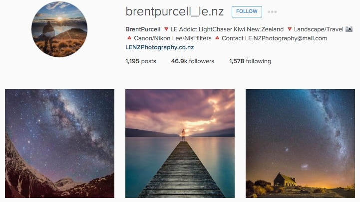 Top New Zealand Instagrammers: Brentpurcell_le.nz