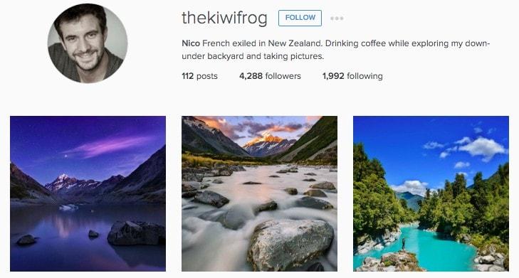 Best New Zealand Instagrammers: thekiwifrog
