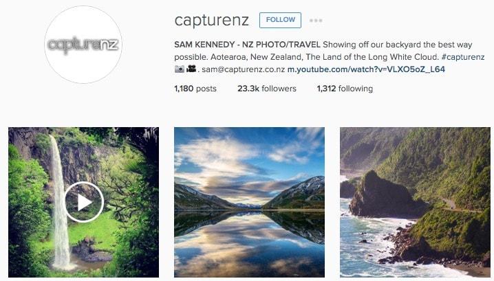 Top New Zealand Instagram Accounts: Sam Kennedy