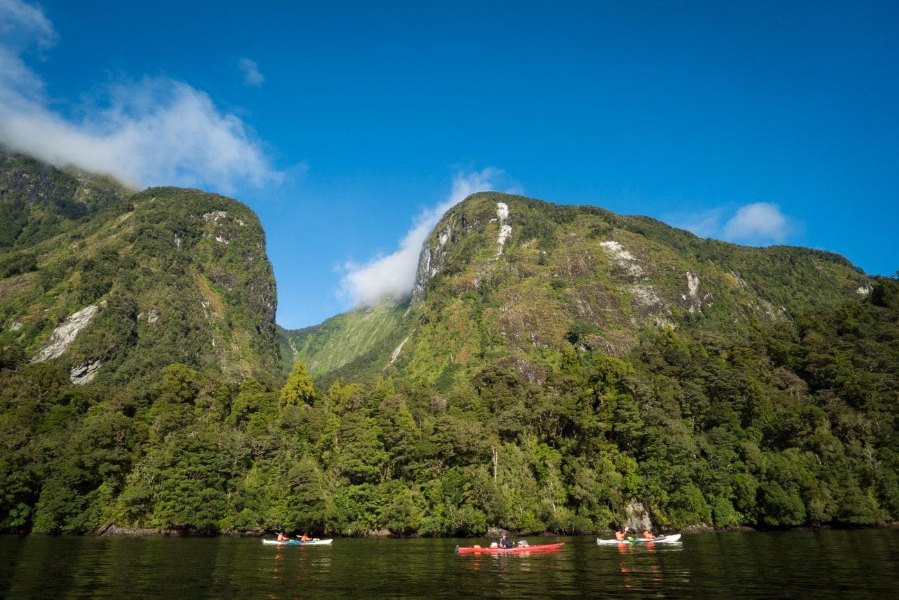 Kayaking on Doubtful Sound