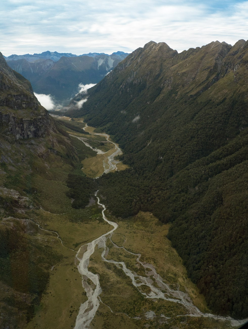 This is the valley that New Zealand's Milford Trek travels through