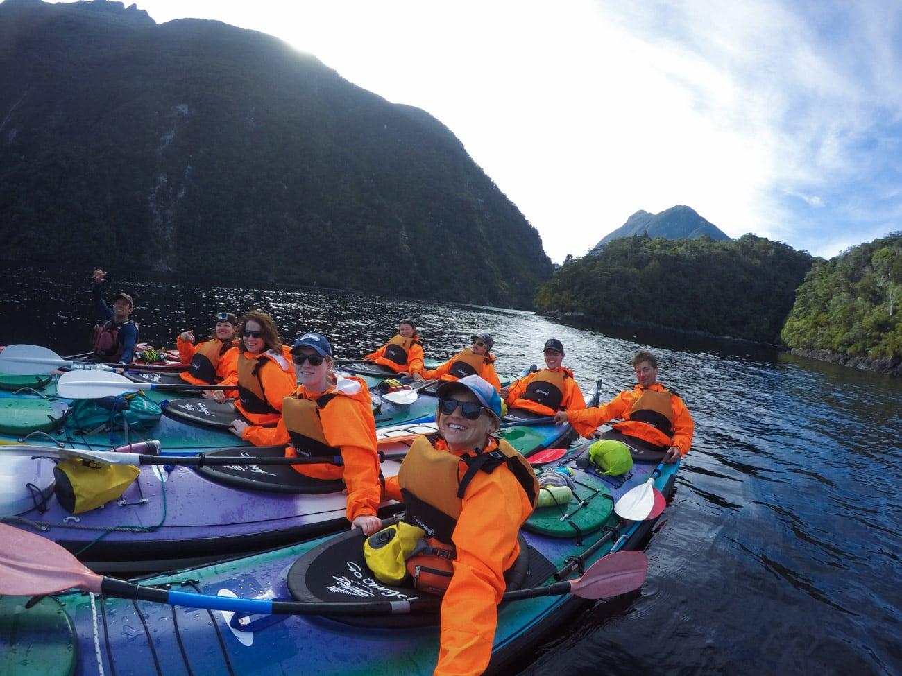 Kayaking on Doubtful Sound with Go Orange