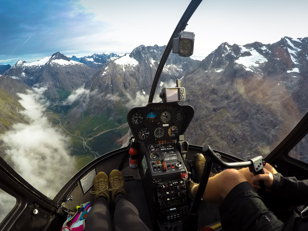 My GoPro was mounted on a head strap in timelapse mode for this shot above Milford Sound in New Zealand. // Learn my favorite GoPro tips and tricks to improve your travel photography.
