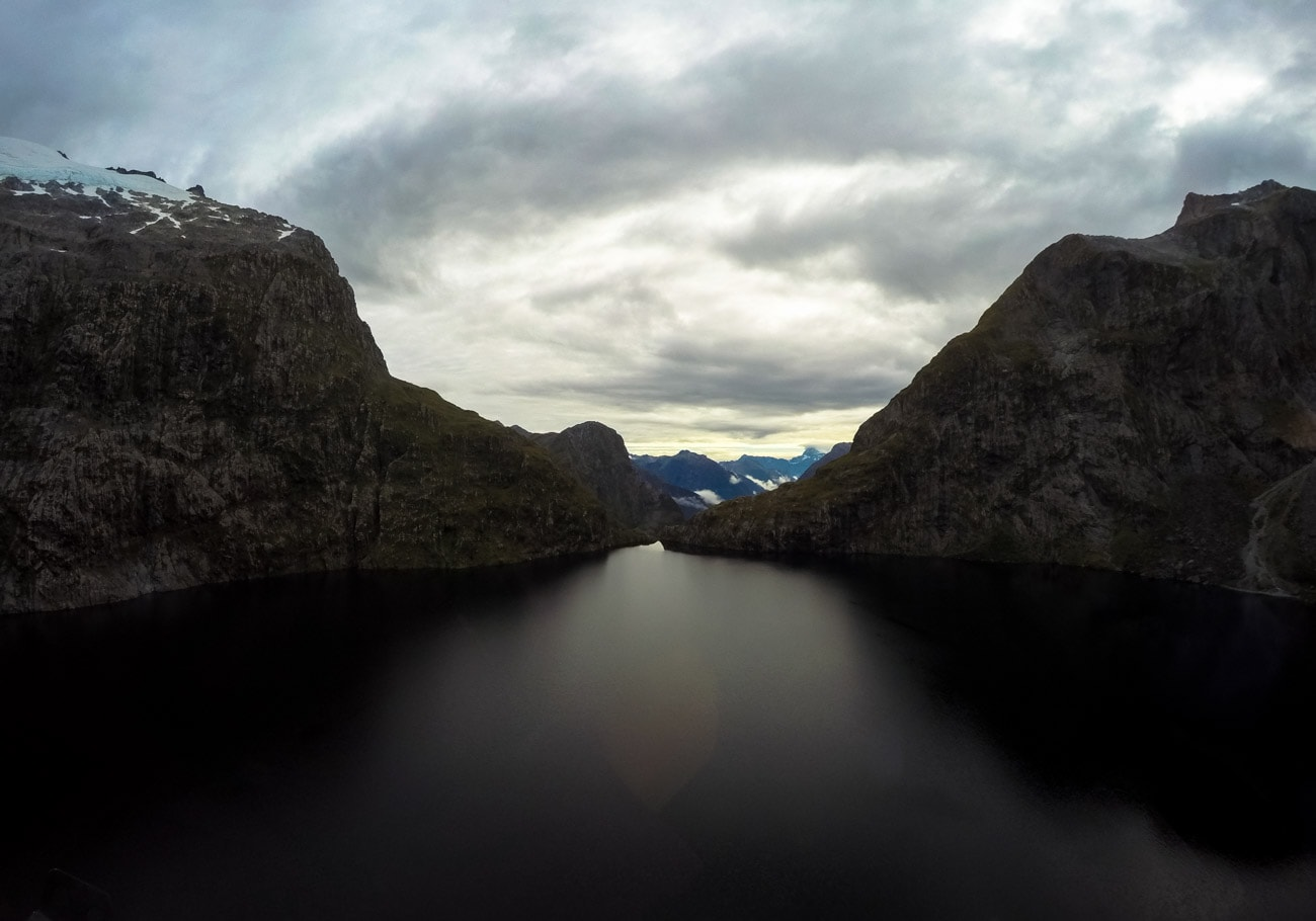 New Zealand's Lake Quill - a landing point on the Milford Sound flight with Southern Lakes Helicopters