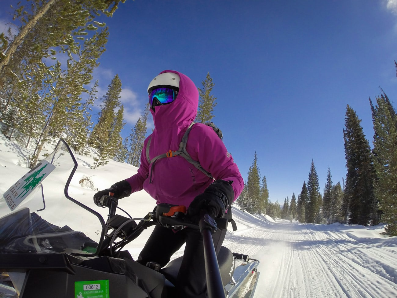 Snowmobiling in Wyoming's Togwotee National Forest // Learn my favorite GoPro tips and tricks to improve your travel photography.
