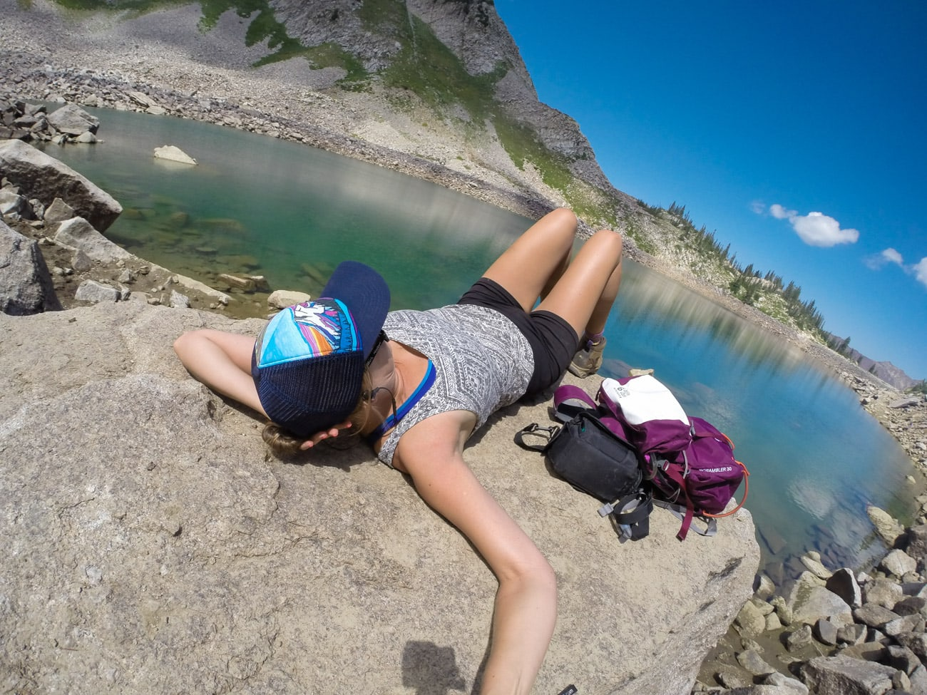 GoPro shot from a solo hike to White Pine Lake above Salt Lake City, Utah // Learn my favorite GoPro tips and tricks to improve your travel photography.