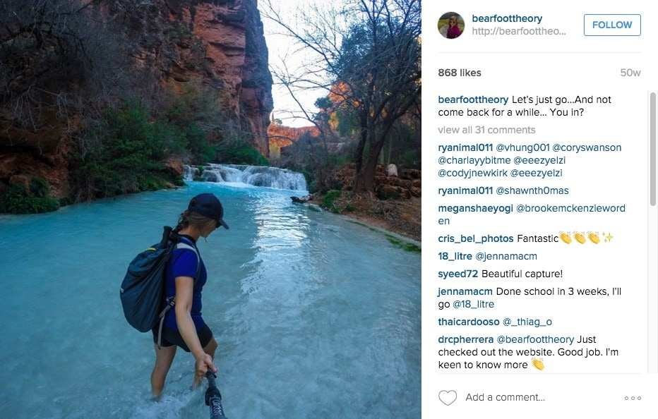 Kristen Bor Bearfoot Theory Instagram