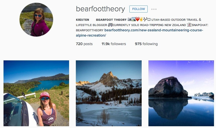 Top New Zealand Instagram Photos: Bearfoot Theory