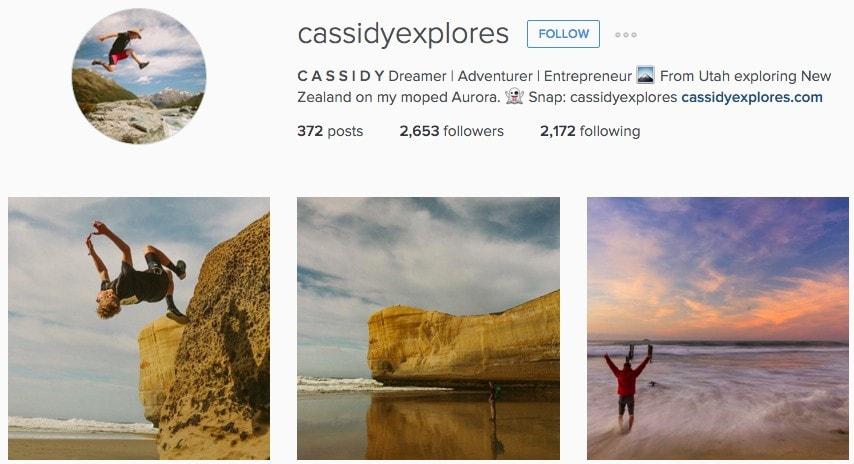CassidyExplores Instagram