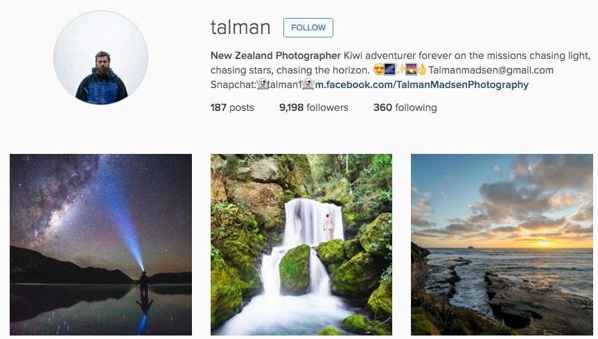 Best New Zealand Instagrammers: Talman
