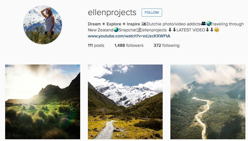 Best New Zealand Instagram Accounts: Ellenprojects
