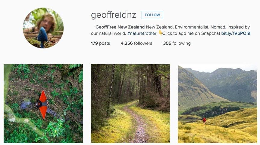 Best Instagrammers in New Zealand: Geoffreidnz