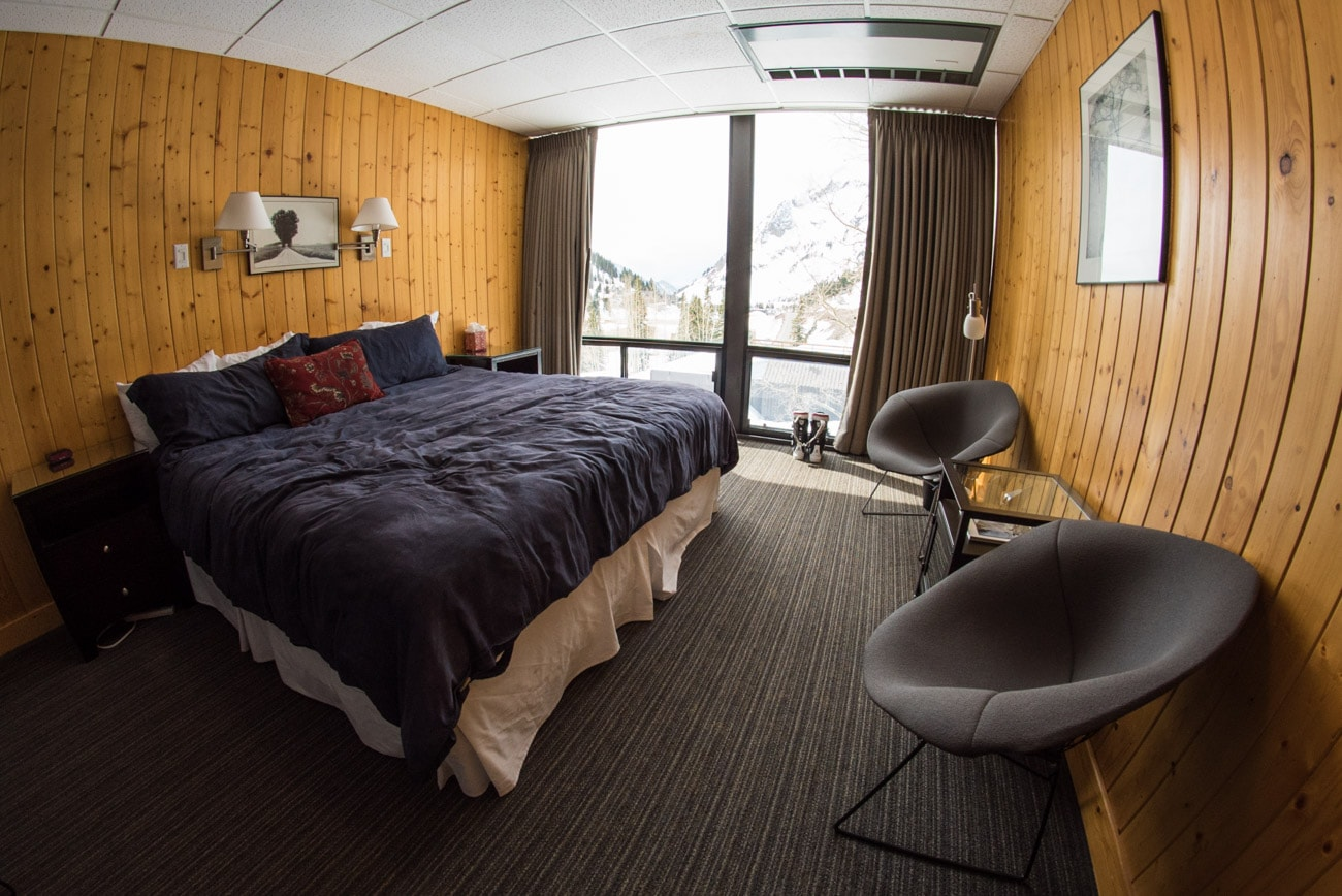 The standard room at the Alta Lodge