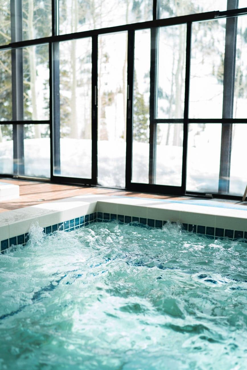 Hot tub at the Alta Lodge