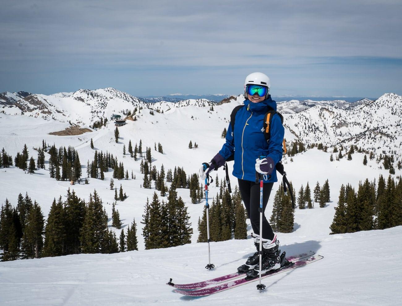 Skiing at Alta in Salt Lake City Utah