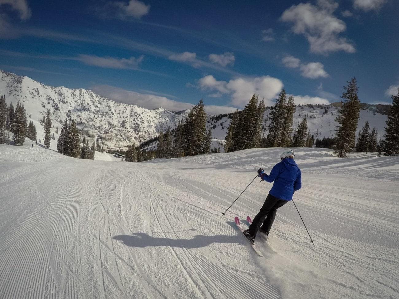 Skiing near the Collins Lift at Alta Ski Resort in Utah