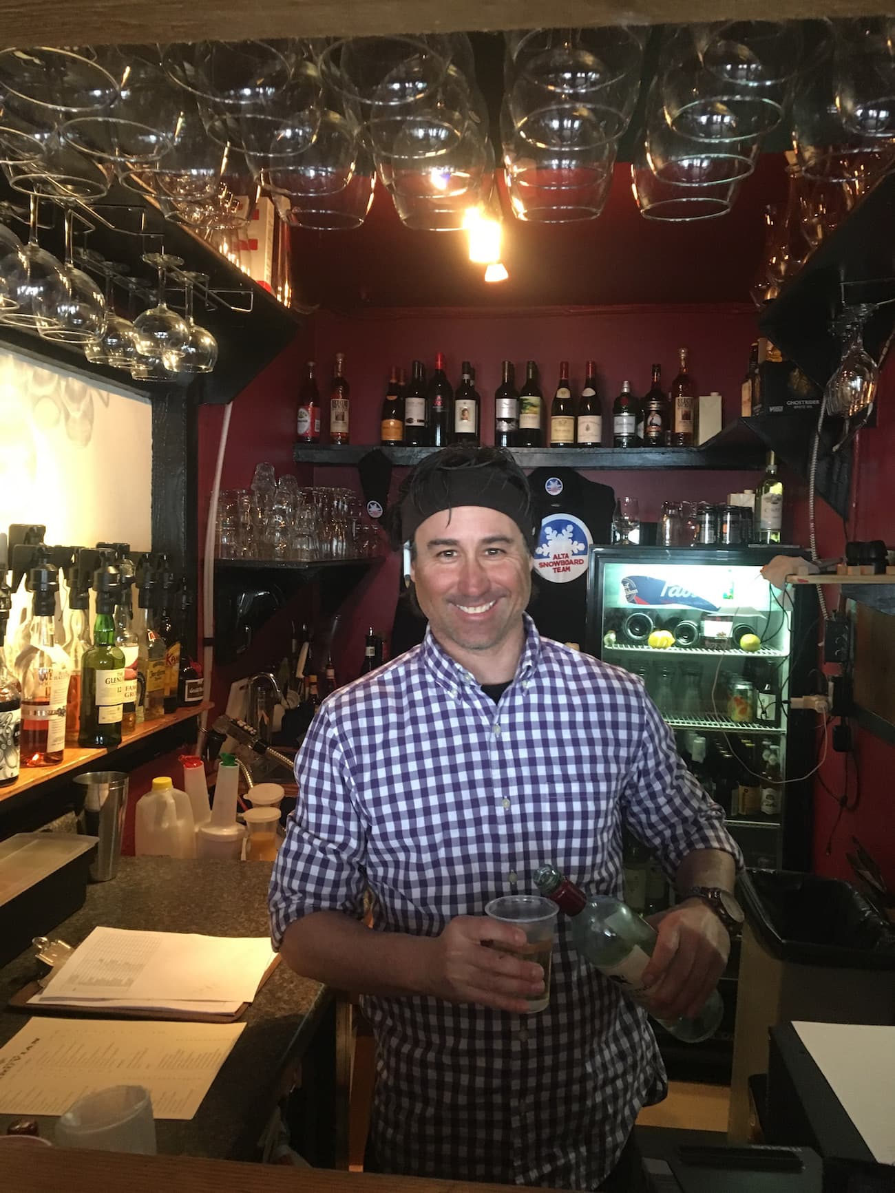 The downstairs bar at the Alta Peruvian lodge
