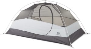 REI Co-op Passage 2 Tent // Looking for the budget outdoor gear? Here is the best cheap backpacking gear and my top tips for buying quality, inexpensive gear.