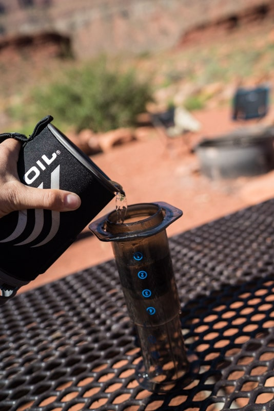 Say goodbye to instant coffee. Get step-by-step instructions for making the best (and easiest) camp coffee of your life using an Aeropress.