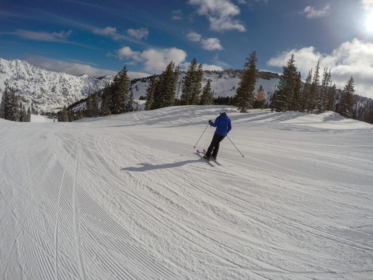 Learning how to ski at Alta Ski Area