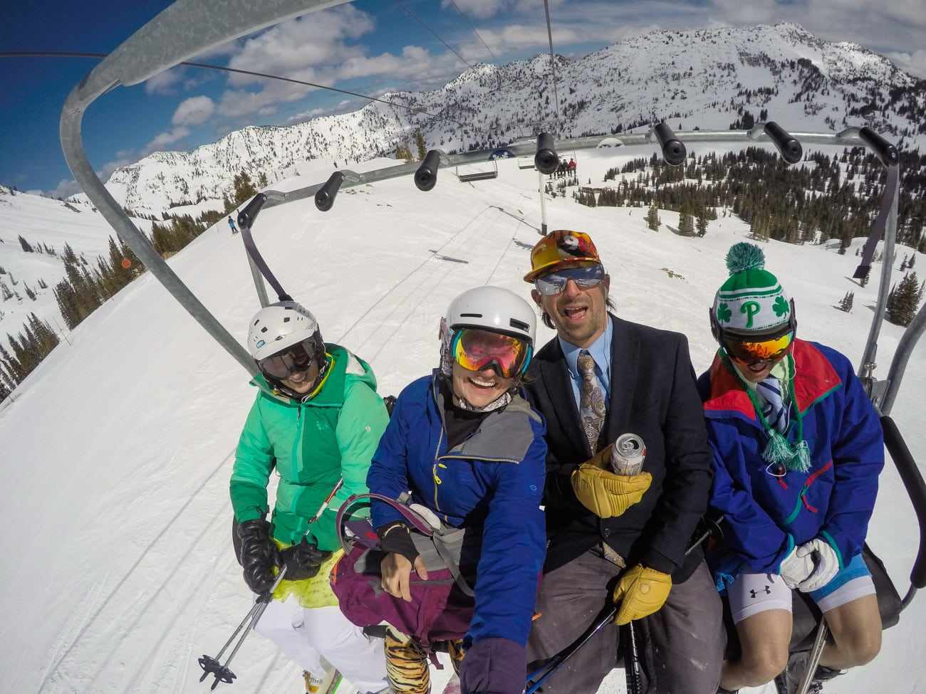 Closing Day at Alta: on the way to the High Boy Party
