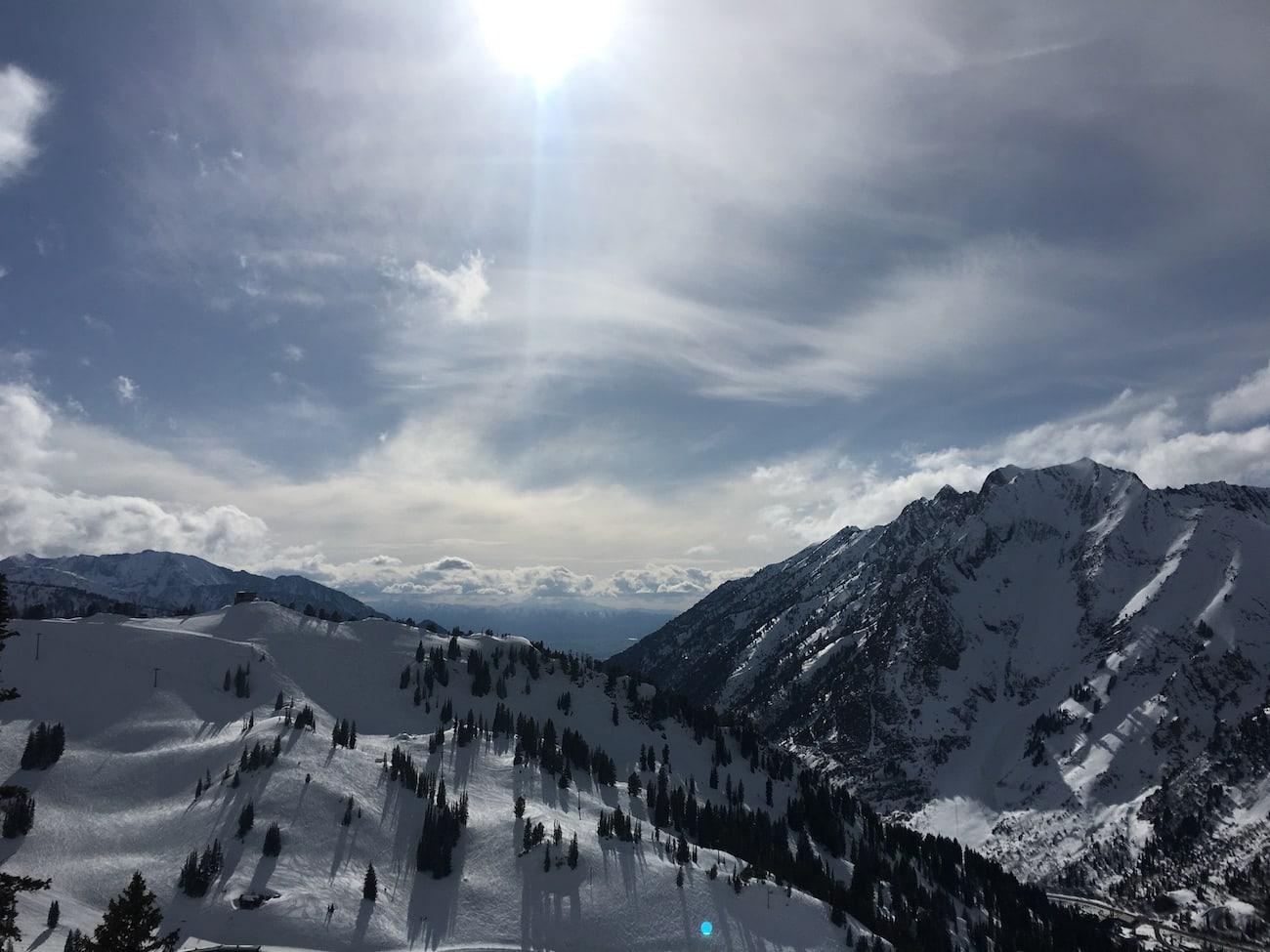 The top of high Rustler at Alta Ski Area