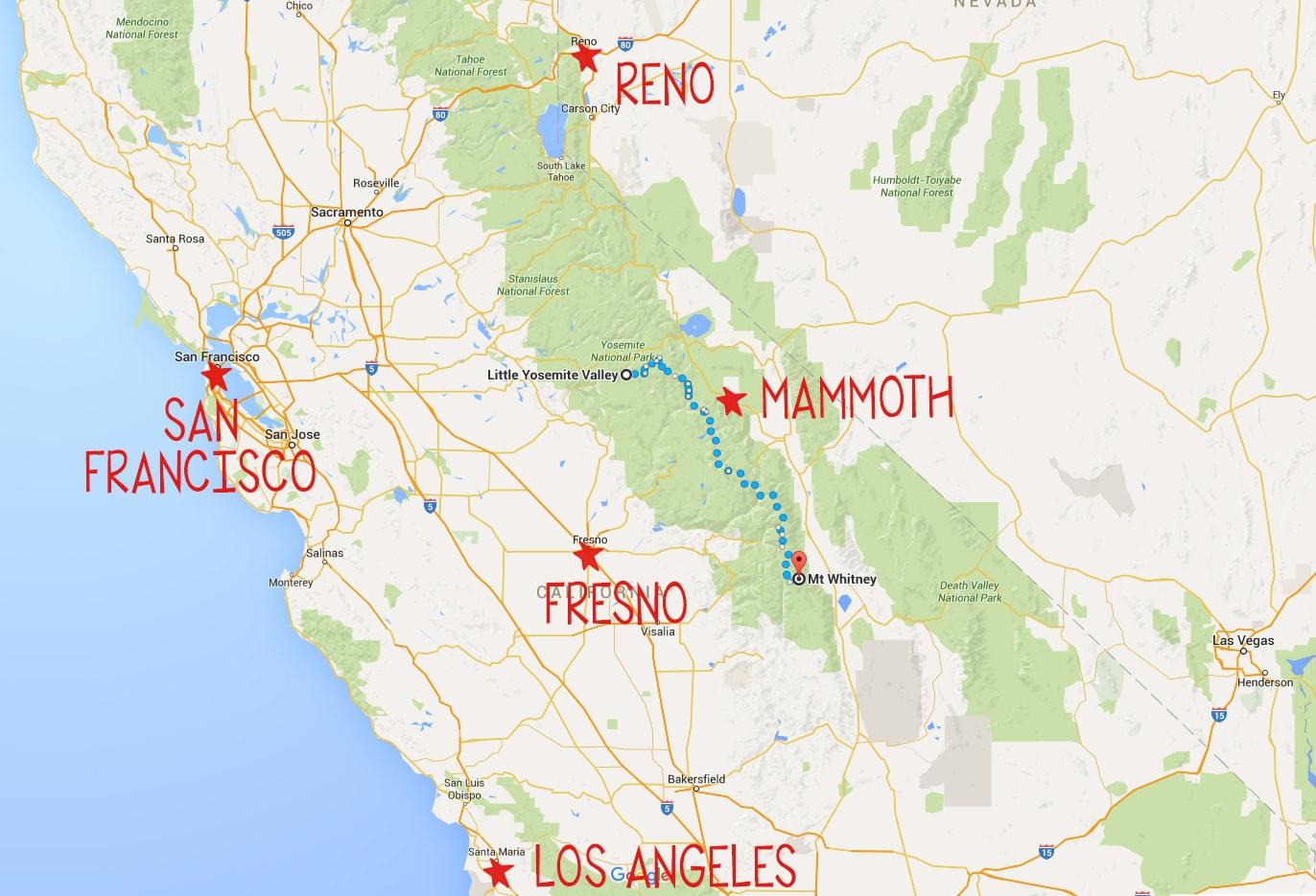 john muir wilderness map pdf