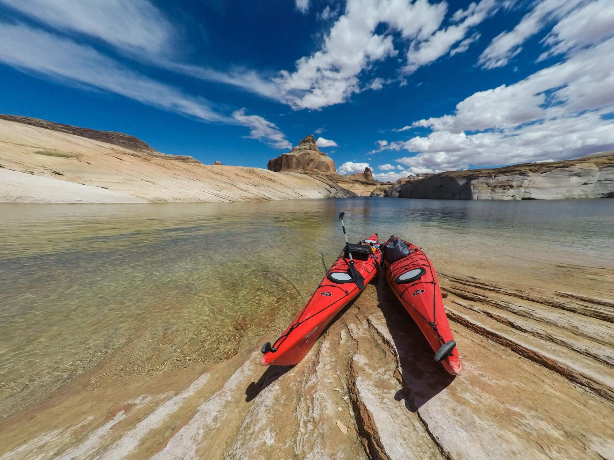 how to plan an overnight kayak trip on Lake Powell