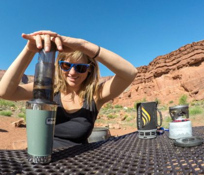 How to make camp coffee with the Aeropress