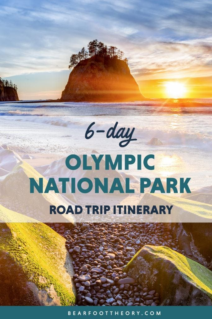 Itching for a Pacific Northwest road trip? Get this detailed 6-day Olympic National Park Itinerary filed with tips for the best stops including hikes, campsites, beaches, food & more!