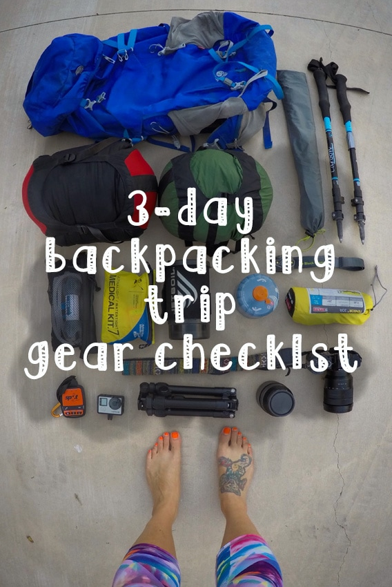 3 day backpacking checklist bearfoot theory. Black Bedroom Furniture Sets. Home Design Ideas