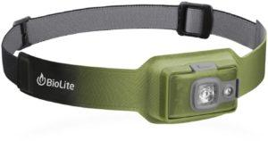Biolite headlamp 200 // An essential piece of gear that makes our 3-day backpacking checklist