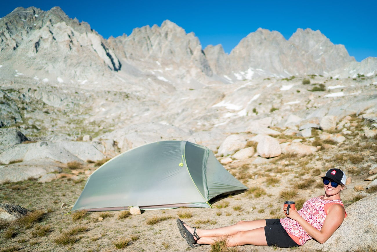 Camping in Dusy Basin in the Eastern Sierras