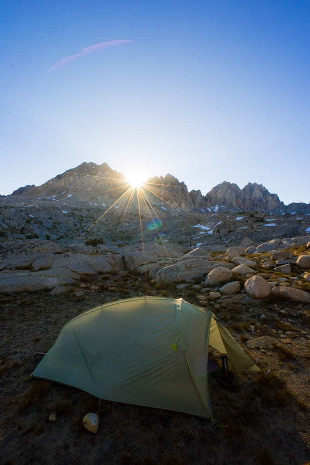 Camping in Dusy Basin in California's Eastern Sierras