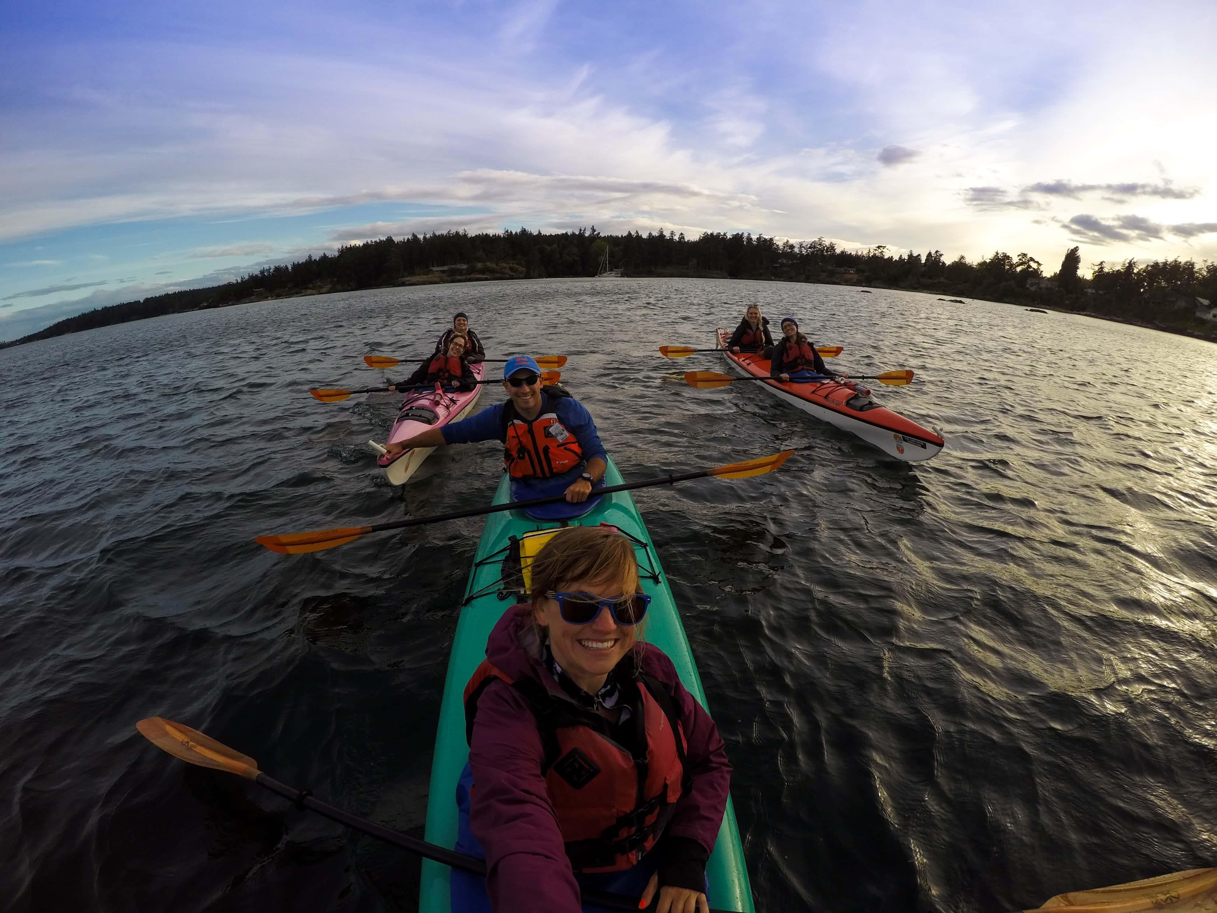 Sunset Kayak Tour with San Juan Kayak Expeditions in Friday Harbor