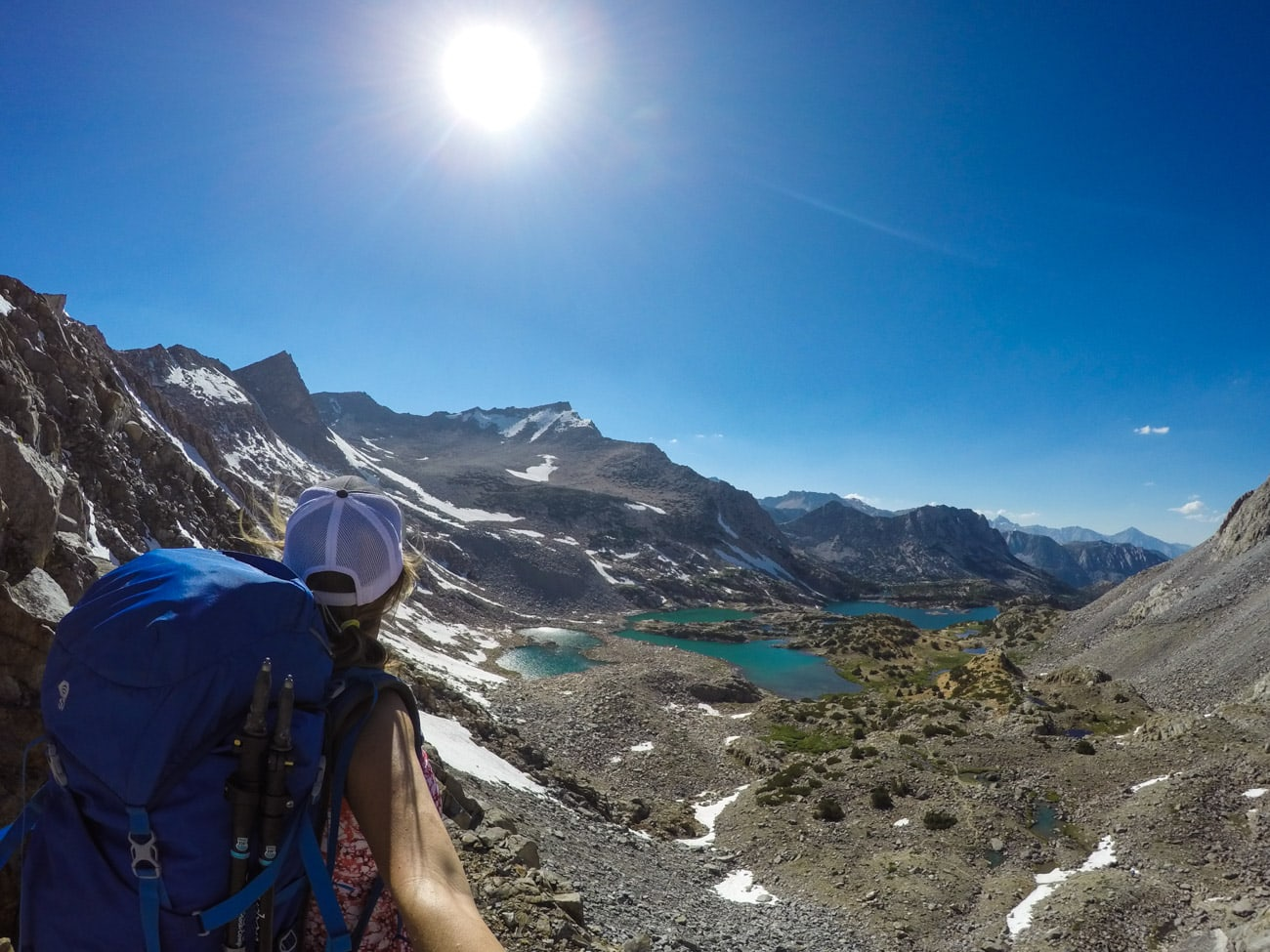Get all the info - routes, campsites, permits, gear & more - for a weekend backpacking trip over Bishop Pass to Dusy Basin Lakes in the eastern Sierras.