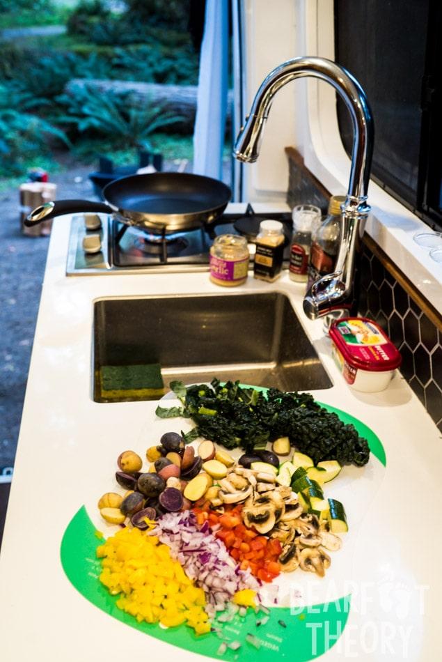 The Kitchen in my 4x4 Sprinter Van Conversion