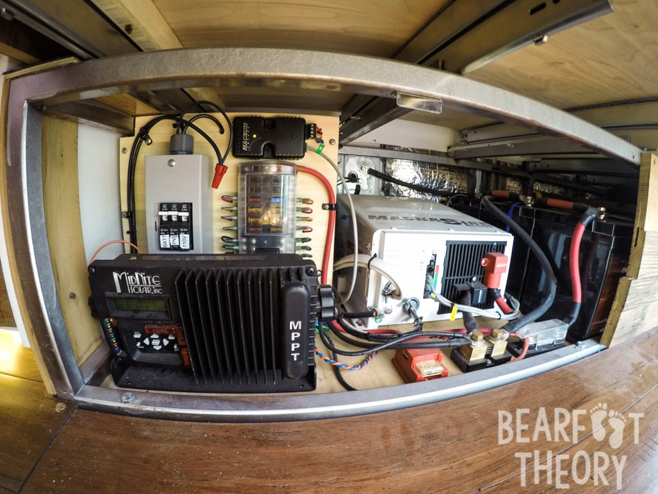 The solar system on my roof powers my electronics in my 4x4 Mercedes Sprinter Van. Get the details in this blog post.