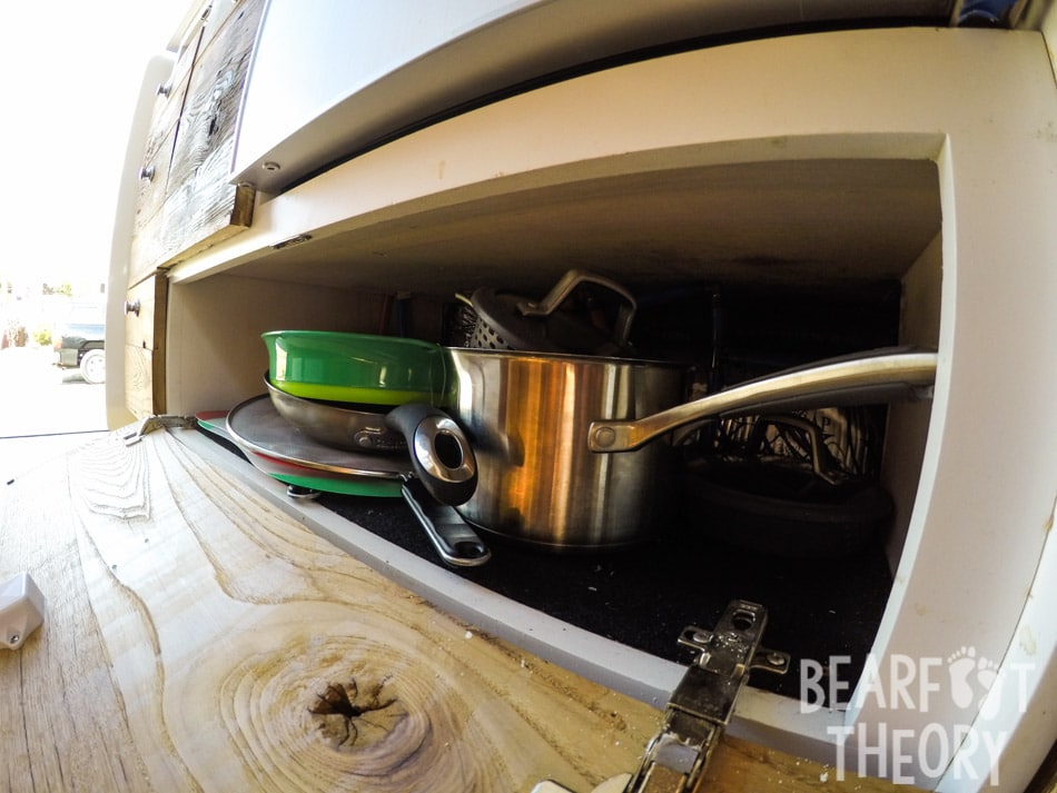 Galley storage in my 4x4 merecdes sprinter van