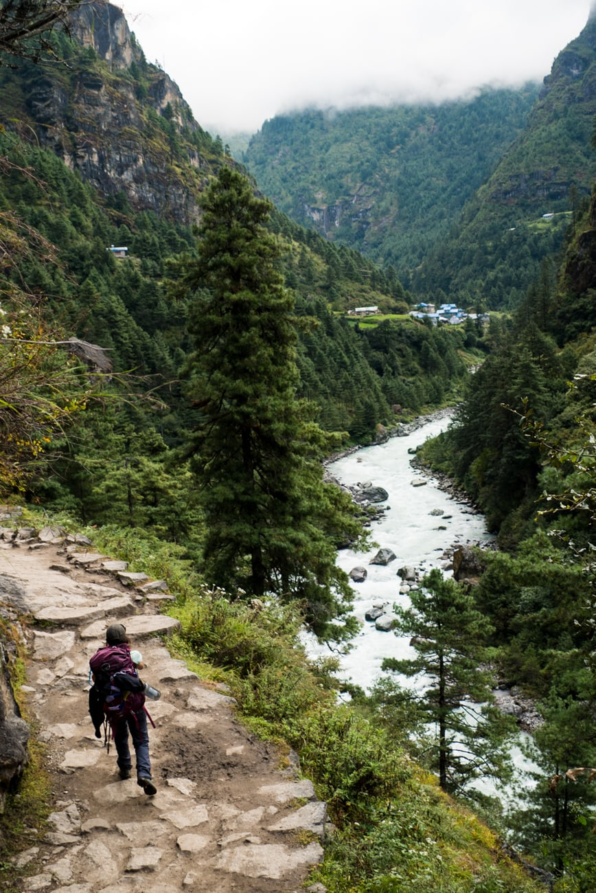 Everest Basecamp Trek Photos: Day 1 - Hiking to Monjo