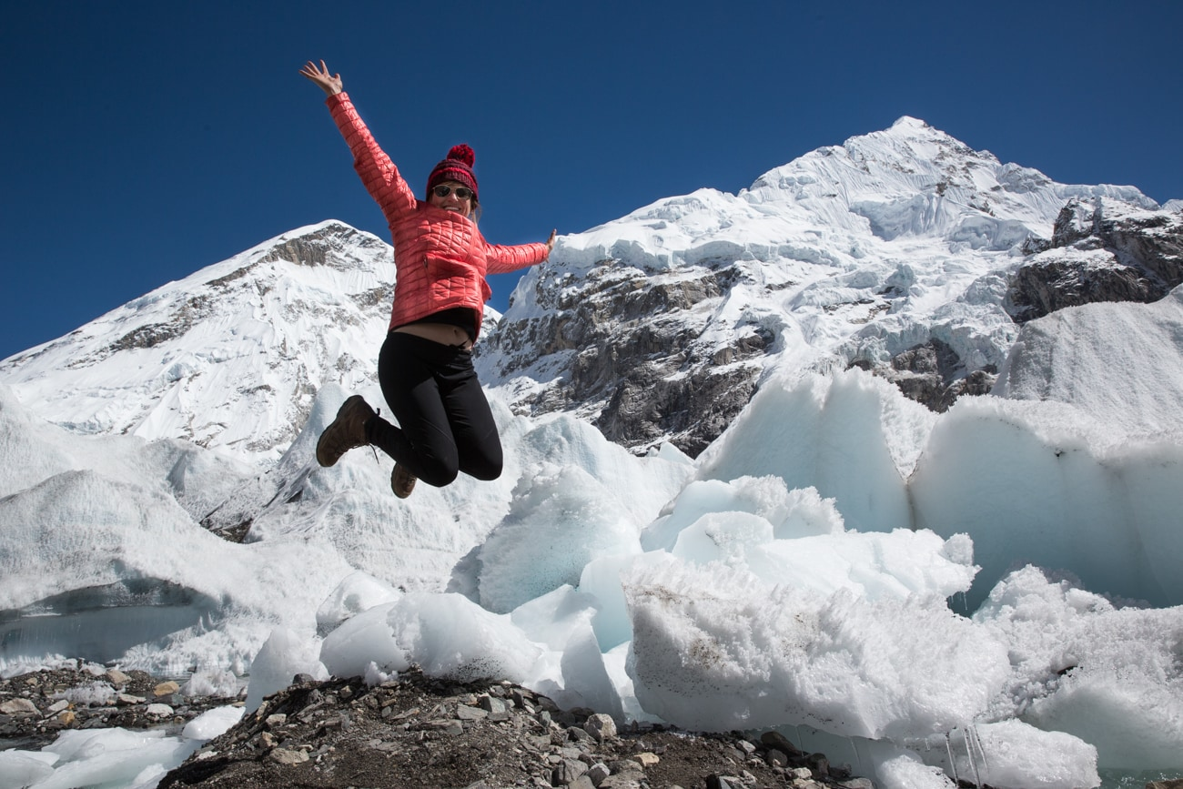 Celebrating the culmination of our 11-day Everest Basecamp Trek
