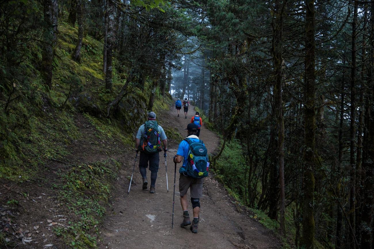 Everest Basecamp trek photos - day 3 - hiking to Laudo Gompa monastery