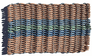 Outdoorsy gifts that give back: 100% recycled lobster rope door mat